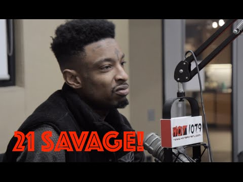 Video: 21 Savage Interview w/ B High On Hot 107.9  Traps N Trunks