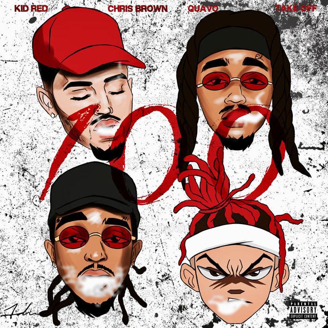 Kid Red Ft. Chris Brown, Quavo & Takeoff – 100